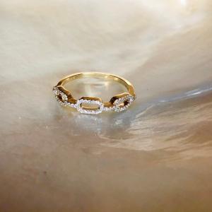 Gelbgold Ring Diamanten