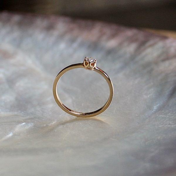 Verlobungsring Gelbgold Diamant Brillant Ring