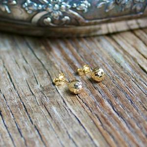 Ohrstecker Goldkugeln Gelbgold 14k