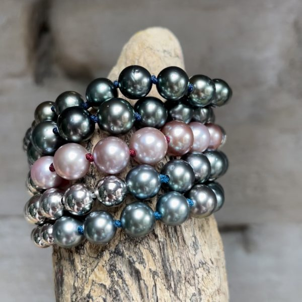 5 Gellner-Urban-Flex-Armbaender-7-Perlen, Tahiti oder Mingperlen Juwelier Haarhaus