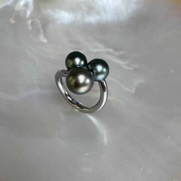 Schmuckwerk Perlenrausch Drilling Ring Tahiti Perlen KR951ST-T Ringweite 55