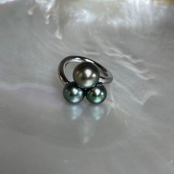 Schmuckwerk Perlenrausch Drilling Ring Tahiti Perlen KR951ST/T in Ringweite 54