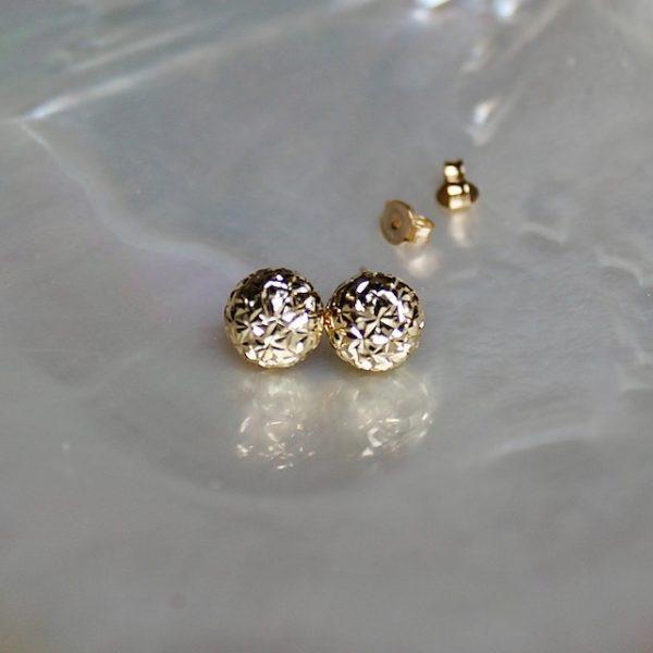 Diamantierte glitzernde Kugeln 10mm Ohrstecker Juwelier Haarhaus