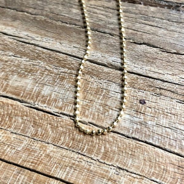 Gelbgoldkügelchen Kette Kugelkette 585 zart