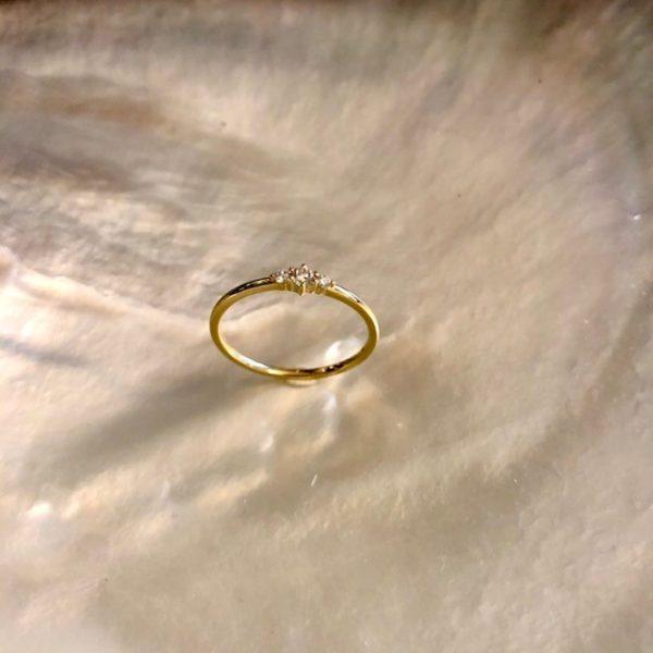 Gelbgold Ring Brillanten Verlobung 750
