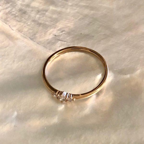 Rosegold Ring 3 Brillanten