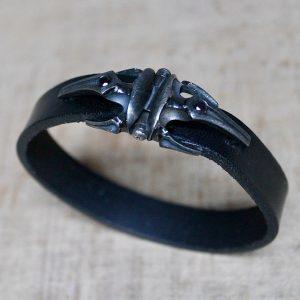 Gellner-Herren-Armband-Selecao-by-Cacau-Leder-schwarze-Diamanten-5-18011-01-
