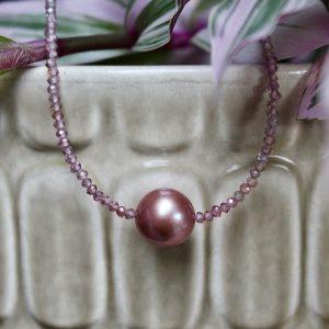 Haarhaus-Hesse-Perlenkette-pinke-rosa-Suesswasserperle-Ming-2160716