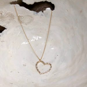 XS1968R Xenox Silberkette gelb vergoldet Herz Anhänger Zirkonia Valentinstag Geschenk