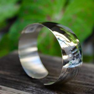 Quinn-Armspange-Silber-poliert 0290005 stehend 20mm breit