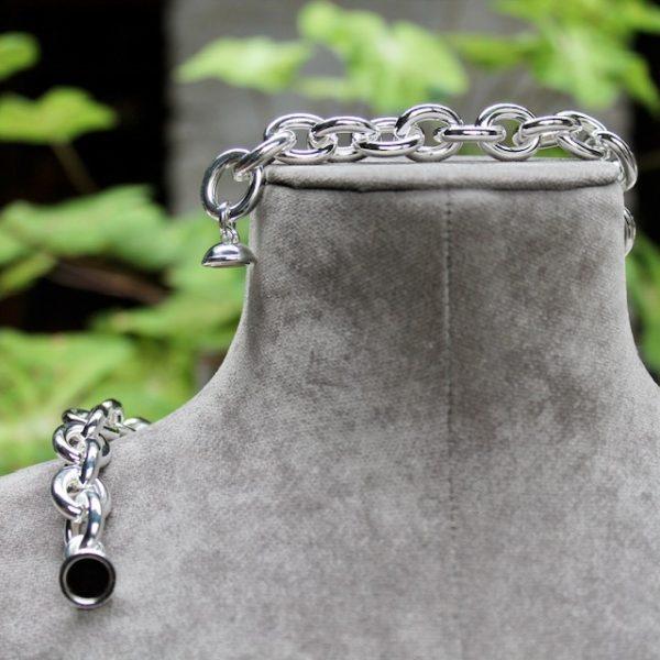 Quinn-Silberkette-Magnetverschluss-0270614-Schliesse Rundanker grosse Glieder 45cm
