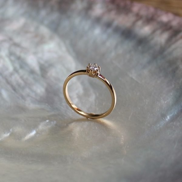 Verlobungsring Gelbgold 585 Brillant Diamant 14k Antragsring