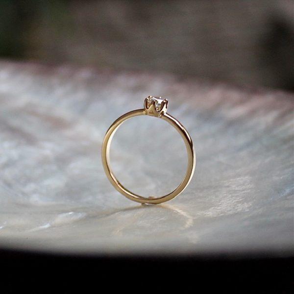 Diamant Ring Verlobung Antrag Gelbgold 020ct Angebot unter 1000 €